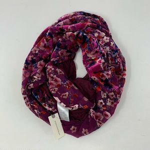 NWT Anthropologie Infinity Purple Floral Scarf